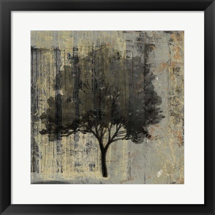Framed Composition With Tree II Print