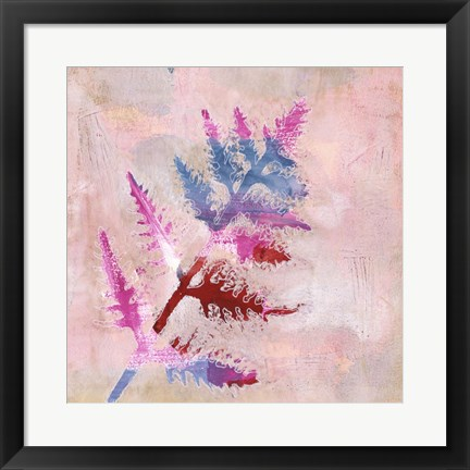 Framed Dappled Fern II Print