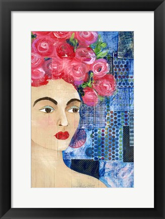Framed Flowers in her Hair I Print