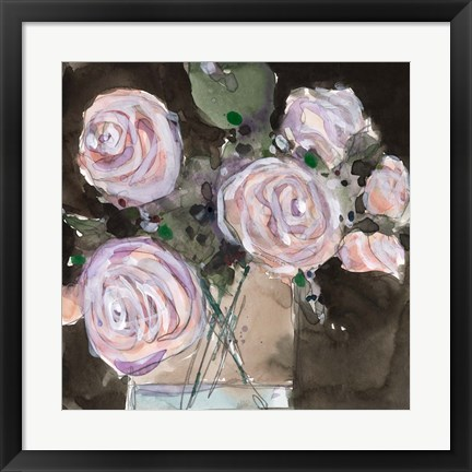 Framed Rose Clippings I Print