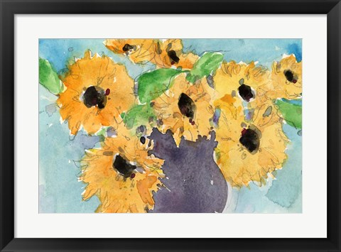 Framed Sunflower Moment I Print