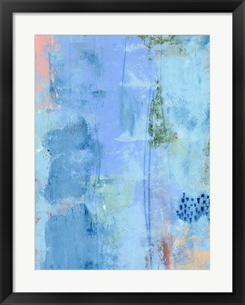 Framed Colored Bleu III Print