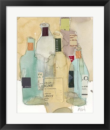 Framed Wines & Spirits II Print