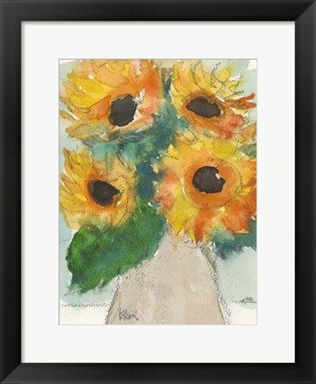 Framed Rustic Sunflowers II Print