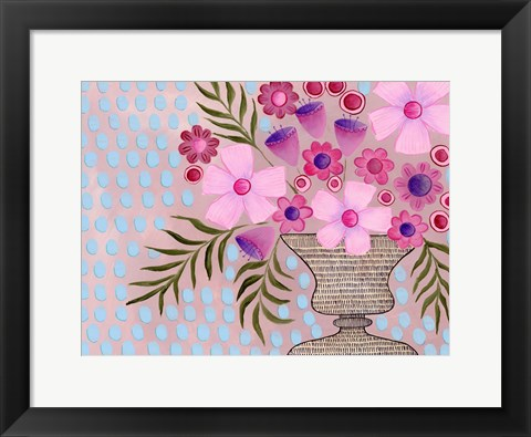 Framed Cheeky Pink Floral II Print