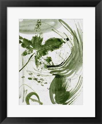 Framed Shades of Forest II Print
