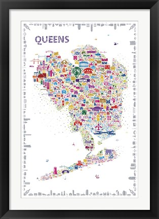 Framed New York Collection-Queens Print