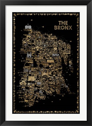 Framed Glam New York Collection-Bronx Print