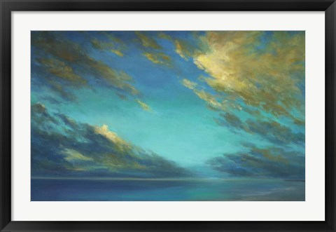 Framed Coastal Cloudscape Print