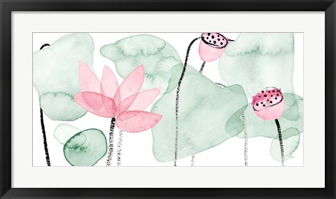 Framed Lotus in Nature IV Print