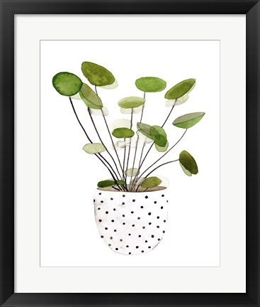 Framed Plant in a Pot II Print