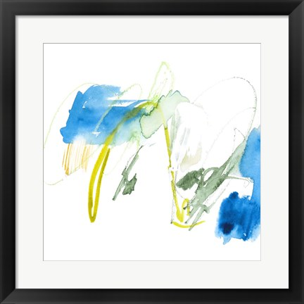 Framed Sea Scrawl II Print