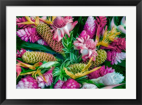 Framed Tropical Floral Print