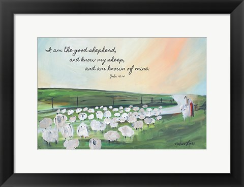 Framed Parable of the Lost Sheep Print