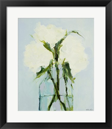 Framed Peonies in a Vase Print