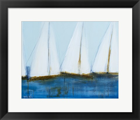 Framed Sailboats III Print