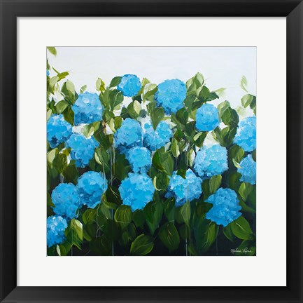 Framed Blue Hydrangeas I Print