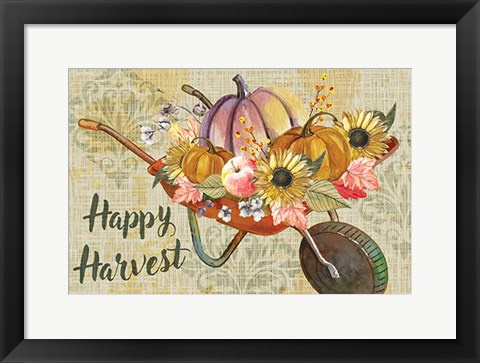 Framed Happy Harvest Print