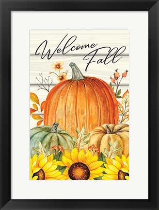 Framed Welcome Fall Print