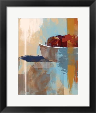Framed Fruit Abstract III Print