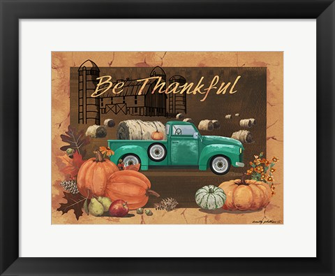 Framed Be Thankful IV Print