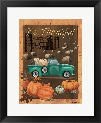Framed Be Thankful VI Print