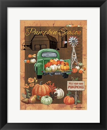Framed Pumpkin Season VI Print