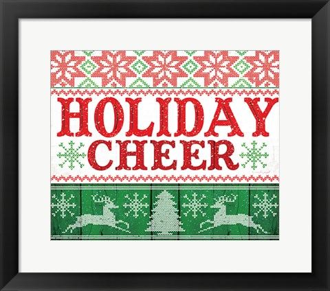 Framed Holiday Cheer Print
