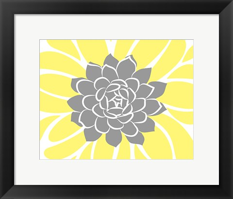 Framed Yellow Foliage Floral IV Print