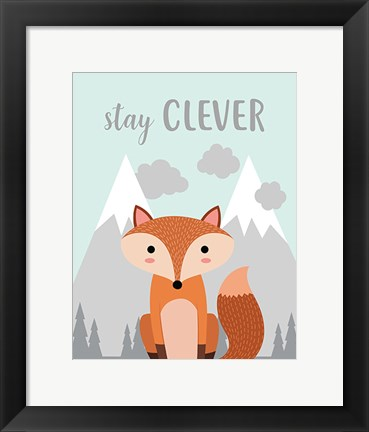 Framed Stay Clever Fox Print