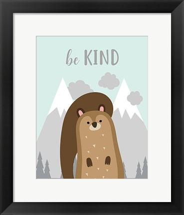 Framed Be Kind Squirrel Print