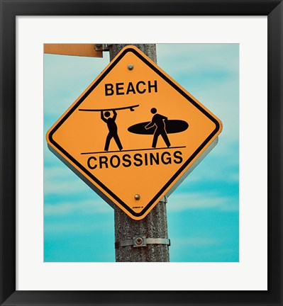 Framed Beach Crossing Print