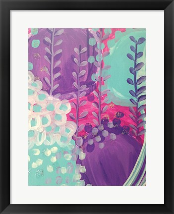Framed Lavender Abstract Print