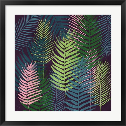 Framed Dark Palms II Print