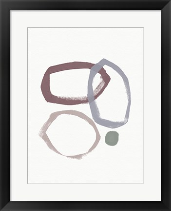 Framed Natural Circles Print