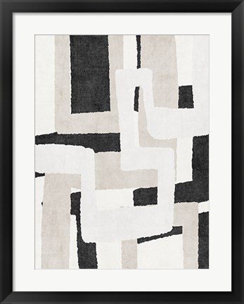 Framed Neutral Abstract Print