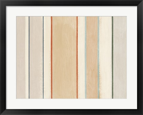 Framed Neutral Stripe Print