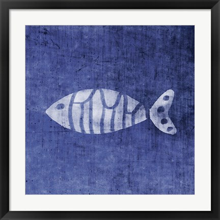 Framed Swirl Fish Print