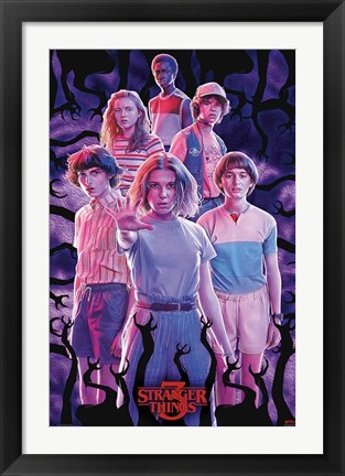 Framed Netflix Stranger Things: Season 3 - Group Print