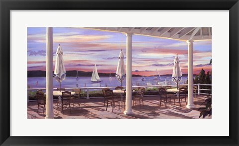 Framed Tables By the Bay Print