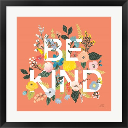 Framed Wild Garden I Be Kind Print