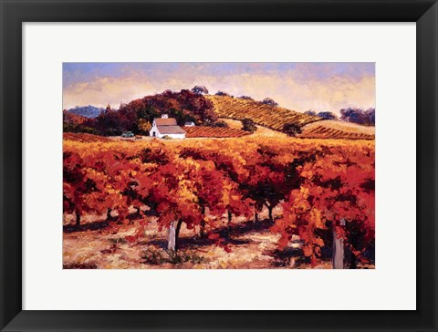 Framed Fields Aflame Print