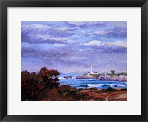 Framed Lighthouse Impression Print