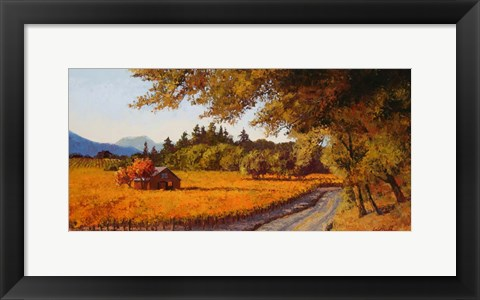 Framed Dry Creek Autumn Print