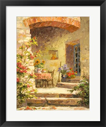 Framed Back Step Garden Print