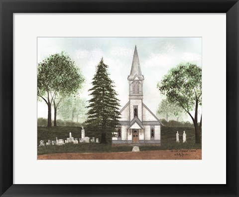 Framed Old Stanwood Church Print