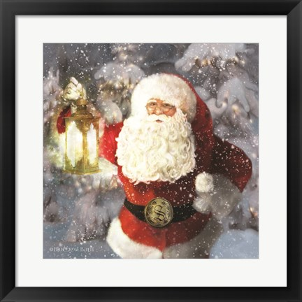 Framed Light the Way Santa Print