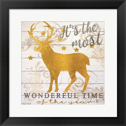 Framed It's the Most Wonderful Time Deer Print