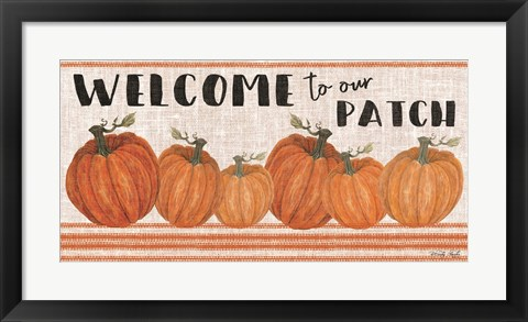 Framed Welcome to Our Pumpkin Patch Print