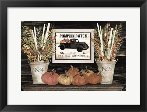 Framed Pumpkin Patch Still Life Print